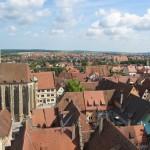 Utsikt fra tårnet på rådhuset.