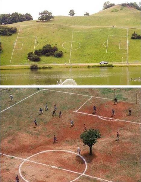 Bilderesultat for morsomme fotballbaner
